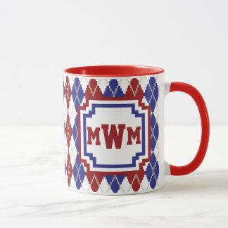 Americana Argyle Mug
