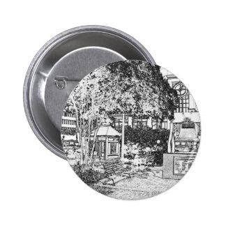 Americana Black and White Small Town Square Buttons