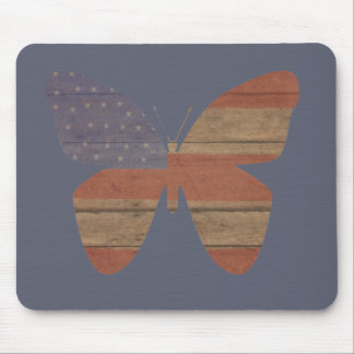 Americana Butterfly Mouse Pad