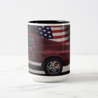 Americana Car Two-Tone Coffee Mug