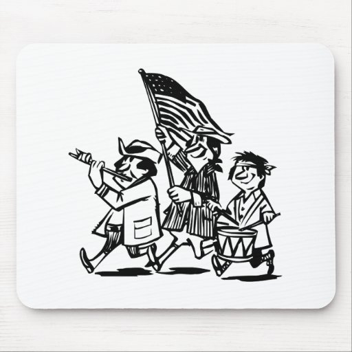 Americana Cartoon Mouse Pads