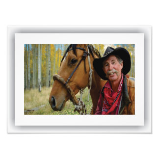 Americana - Cowboy, Satin Print