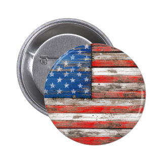 Americana Flag 6 Cm Round Badge