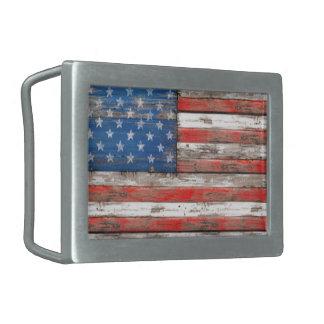 Americana Flag Belt Buckles