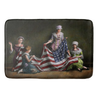 Americana - Flag - Birth of the American Flag 1915 Bath Mats