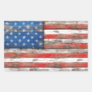 Americana Flag Rectangular Sticker