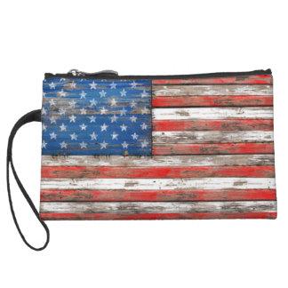 Americana Flag Wristlet Clutch