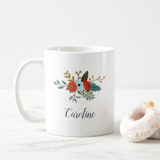 Americana Floral | Personalized Coffee Mug