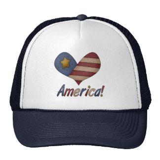 Americana Heart Trucker Hat