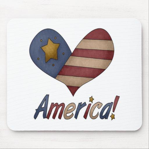Americana Heart Mouse Pad