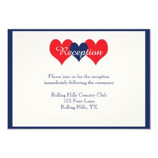 Americana Hearts Wedding Reception Personalized Invites