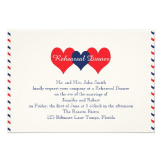 Americana Hearts Wedding Rehearsal Announcement
