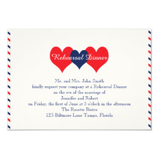 Americana Hearts Wedding Rehearsal Announcement