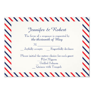 Americana Hearts Wedding Response Card