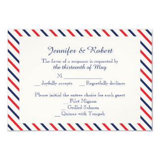 Americana Hearts Wedding Response Card Custom Invitations