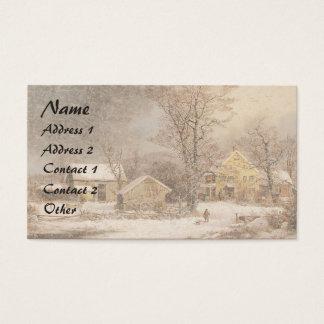 Americana Horse Sleigh Farmhouse Business Card