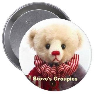 Americana Jester Bear Created by Steve Schutt 10 Cm Round Badge
