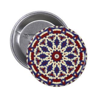 Americana Kaleidoscope Pinback Buttons