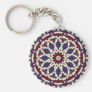 Americana Kaleidoscope Basic Round Button Key Ring