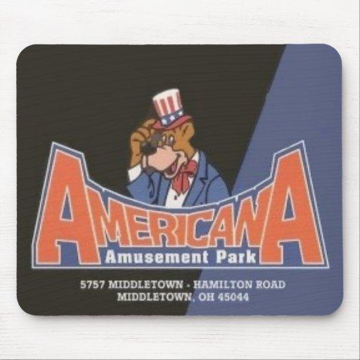Americana Lesourdesville Amusement Park Monroe OH Mouse Pads
