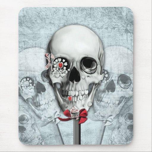 Americana lollipop skulls mousepads