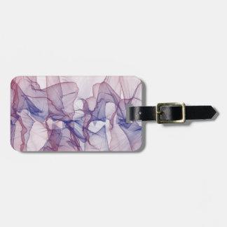 Americana Modern Art Mauve Blue Design Luggage Tag