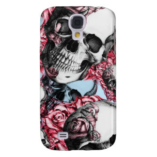 Americana Multi rose skull pattern. Galaxy S4 Cases