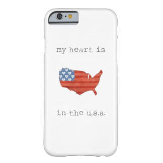 Americana | My Heart Is In The USA Map Barely There iPhone 6 Case
