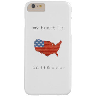 Americana | My Heart Is In The USA Map Barely There iPhone 6 Plus Case