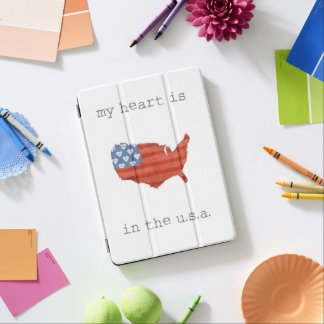 Americana | My Heart Is In The USA Map iPad Air Cover
