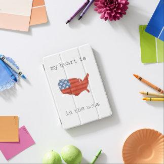 Americana | My Heart Is In The USA Map iPad Mini Cover