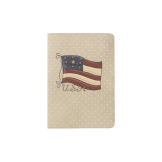 Americana Patriotic Passport Holder