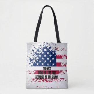 Americana Patriotism Flag Tote Bag