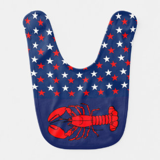 Americana Red Lobster Baby Bib