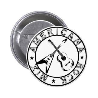 Americana Rock Mix Logo Button
