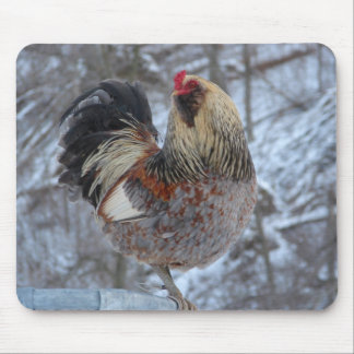 AMERICANA ROOSTER IN WINTER GIFTS MOUSE PAD
