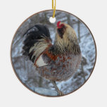 Americana Rooster Ornament