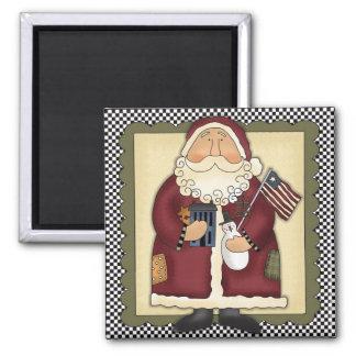 Americana Santa Claus Magnet