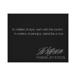Americana Series: Thomas Jefferson Quote. Canvas Print