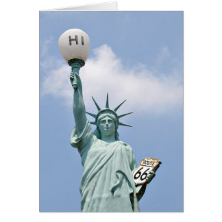 Americana Statue of Liberty Card
