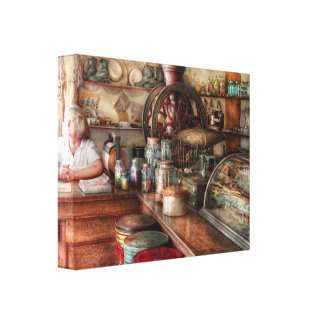 Americana - Store - Looking after the shop Canvas Print