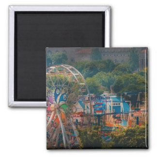 Americana - The Ferris wheel Square Magnet