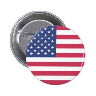 Americana. US Flag. 6 Cm Round Badge