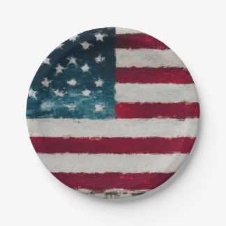 Americana Vintage Party Plates 7 Inch Paper Plate
