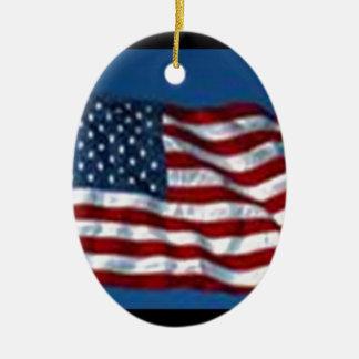 americanflag ceramic ornament