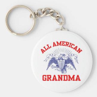 americangrandma basic round button key ring