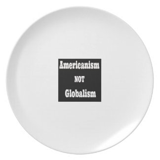 Americanism, NOT Globalism Plate