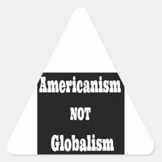 Americanism, NOT Globalism Triangle Sticker