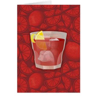 Americano cocktail card