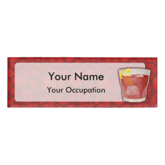 Americano  cocktail name tag